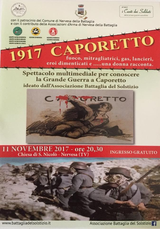 """Spettacolo Multimediale """"1917 Caporetto"""""""